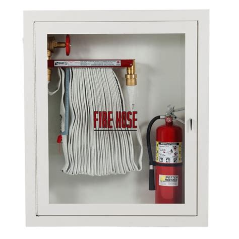 1 5 quot hose rack and extinguisher cabinet potter roemer