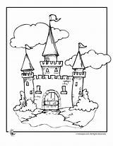 Coloring Castle Disney Printable Drawbridge Template Clipart Cinderella Drawing Colour Fairy Barrel Racing Templates Adults Tales Popular sketch template