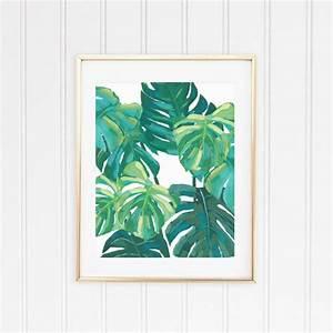 4 tropical wall art leaf prints shelby dillon studio With tropical wall decor