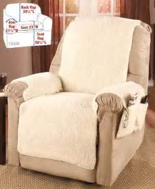 fleece recliner covers brown or burgundy chair