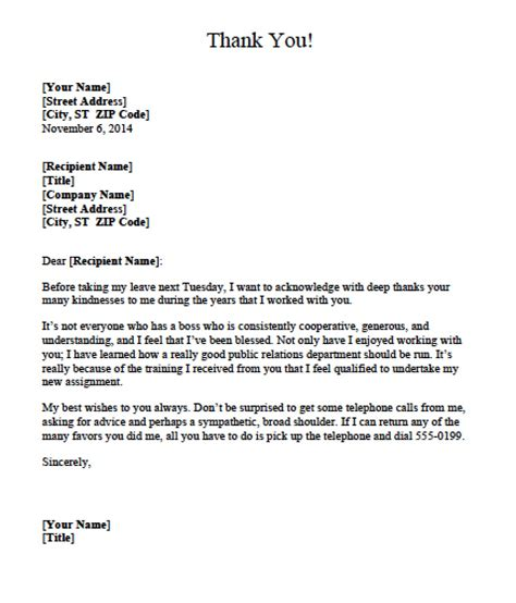 appreciation letter templates 5 appreciation letter templates formats examples in