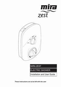 Mira Zest Electric Shower 8 5kw J96f  T  2004