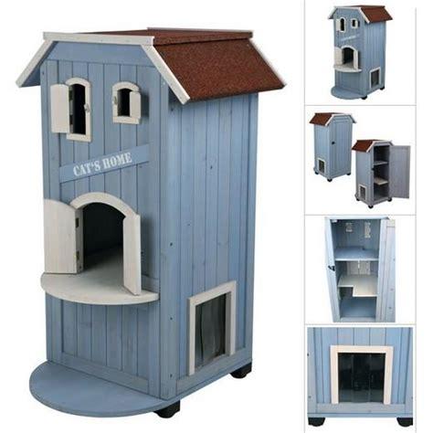niche exterieur pour chat niche maisonnette cat s home pour chats accessoires pour le couchage du chat en ext 233 rieur