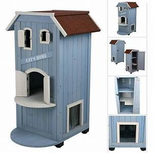 Maison Pour Chat Extérieur : niche maisonnette cat s home pour chats niche pour chat ~ Premium-room.com Idées de Décoration