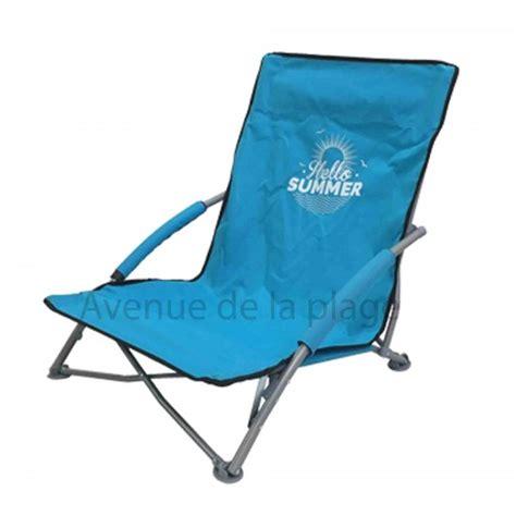 siege hello siège de plage bas pliant hello summer pas cher chaise de