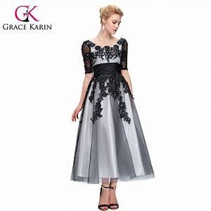 Grace Karin Long Lace Evening Dresses 2016 Elegant Half ...