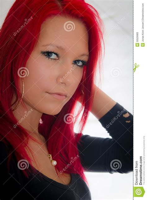 Beautiful Girl With Red Hair Stock Image Image Of Fresh