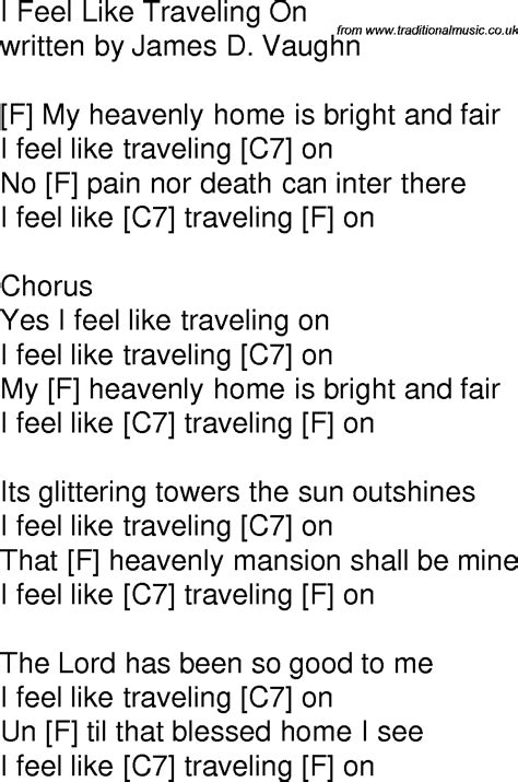 39 is a song by british rock band queen. Old time song lyrics with guitar chords for I Feel Like ...
