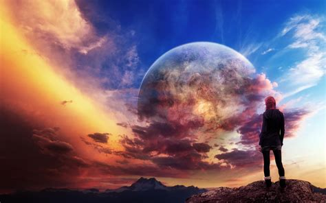 planet rise hd wallpaper and background 1920x1200