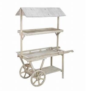 Mueble estantería vintage Carro mercado