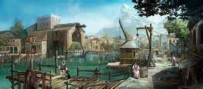 Port Concept Witcher Wine Blood Fantasy Coastal