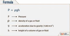 Static Fluid Pressure (P) Calculator