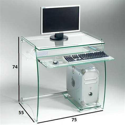 table bureau design meuble informatique verre table bureau design lepolyglotte