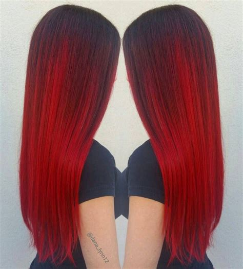 Vibrant Red Hair Color With Redken Gels Look Of Love