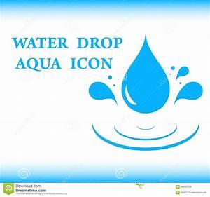Water Drop Aqua Icon Stock Illustration - Image: 60629754