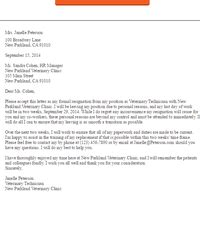 sample resignation letters letter samples livecareercom