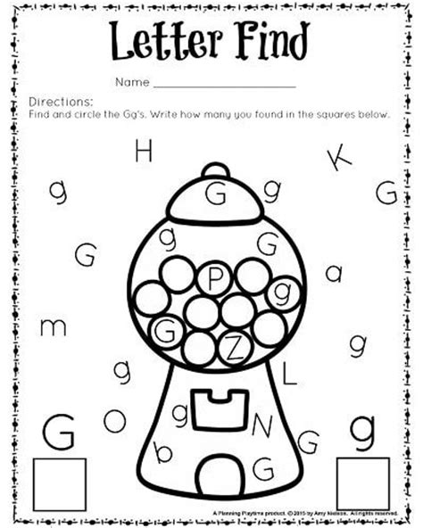 free printable letter find worksheet for preschool and
