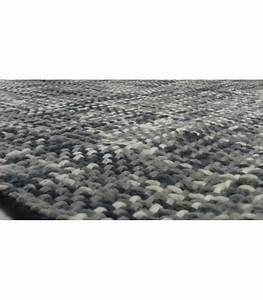 tapis design tresse gris en laine et coton 140200cm With tapis design gris