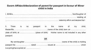 Procedure to Apply SWORN Affidavit for the Issue of Child ...