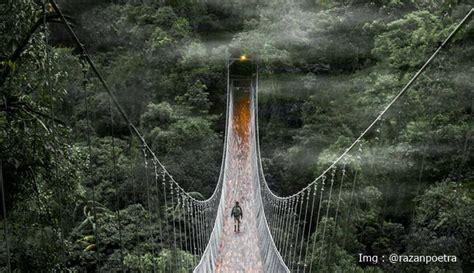 indahnya jembatan gantung  indonesia  dijadikan spot