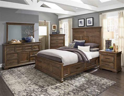 Homelegance Bedroom Set by Homelegance Narcine Bedroom Set Oak Veneer With Gray