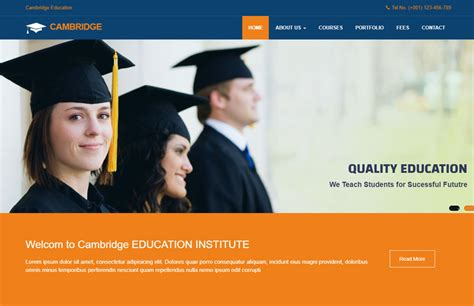 Education Website Template Free Download