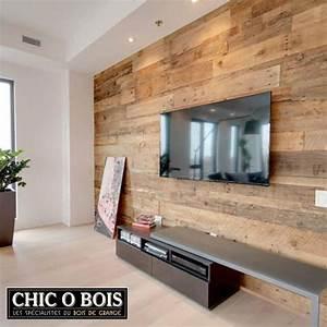 Decoration Mur Interieur Salon : deco mur salon bois ~ Teatrodelosmanantiales.com Idées de Décoration