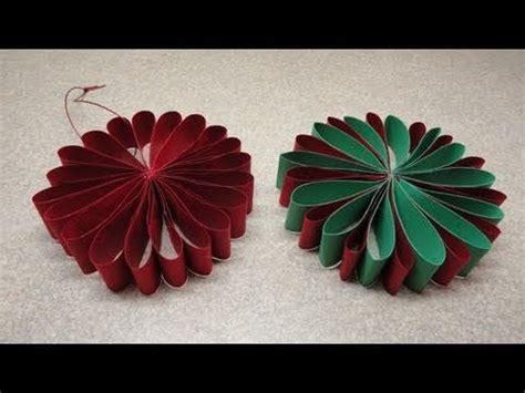 folded flower christmas tree ornament youtube