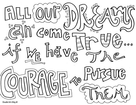 Courage Quote Coloring Pages