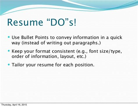 3 f s of resume writing prsnt