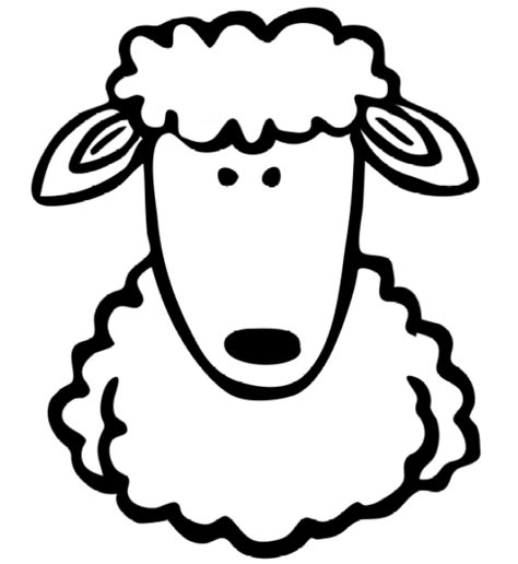 Coloring Page Sheep Animal Pages 1