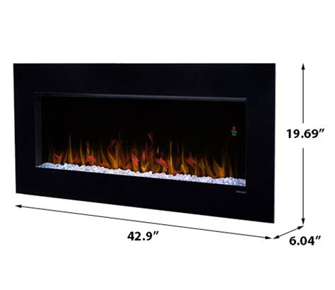dimplex 43 in wall mount electric fireplace dwf3651b
