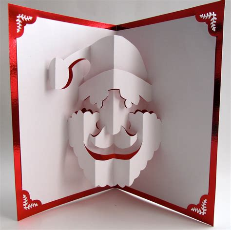 santa claus christmas pop  card home decor  handmade cut