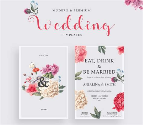 65+ Gorgeous Wedding Invitation Templates Design Shack