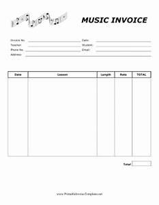 Music lesson invoice template for Music lesson invoice template