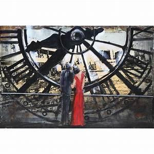 Tableau Metal Design : tableau peinture support m tal big ben ~ Teatrodelosmanantiales.com Idées de Décoration