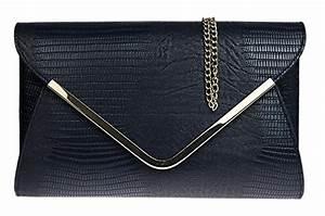 Pochette De Sac : girly handbags pochette sac main de soir e mariage femme noir effet peau de ~ Teatrodelosmanantiales.com Idées de Décoration