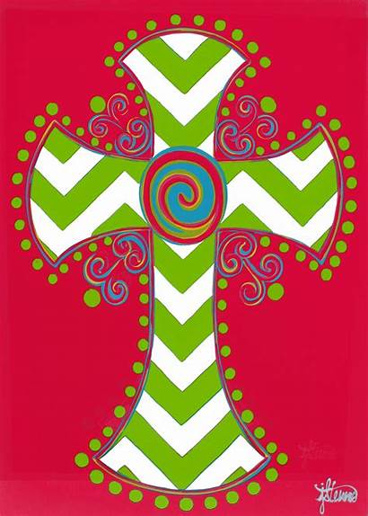 Chevron Cross Flag Letter Decorative Garden Wallpapersafari