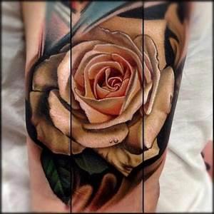 beautiful realistic rose tattoo by Nikko Hurtado | Colour ...