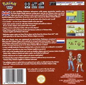 Pokemon Firered Version Box Shot For Game Boy Advance