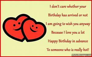Happy Birthday in Advance: Early Birthday Wishes ...