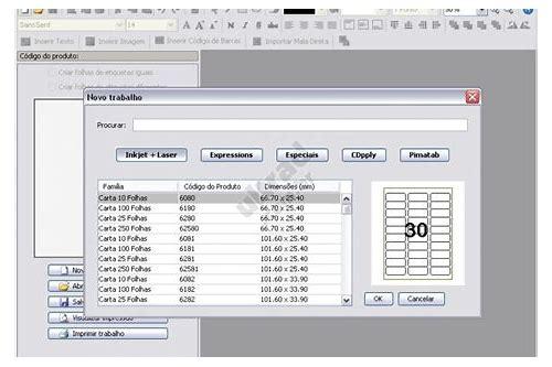 baixar de software de corte de etiquetas pimaco
