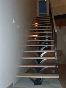 Escalier droit métal Wikilia fr