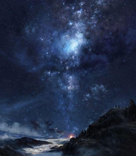 fondos de pantalla monta 241 as noche galaxia cielo