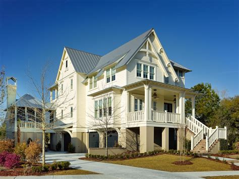 home building design tour this elevated coastal cottage in charleston sc
