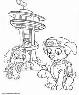 Paw Patrol Coloring Pages Zuma Chase Printable Skye Cartoon Getcolorings Advertisement Dog Sketch Characters Template sketch template