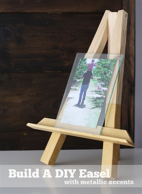 diy easel picture frame merrypad