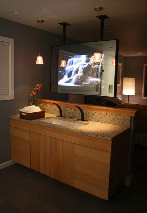 Mirror Tv For Bathroom by Vanity Mirror Tv Order Vanishing Television For Your