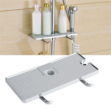 3578 shower caddy basket abs bathroom toilet shower rod storage shelf caddy basket