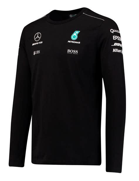 Скидка 5% при оплате картой онлайн. 2017 Mercedes-AMG F1 Lewis Hamilton Long Sleeve Mens T-Shirt Tee Formula 1 Team | eBay